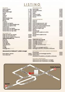price list beauty center rome beauty smart