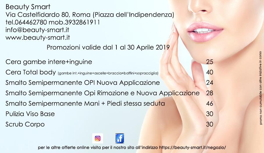 promozioni di aprile 2019 centro estetico roma termini beauty smart